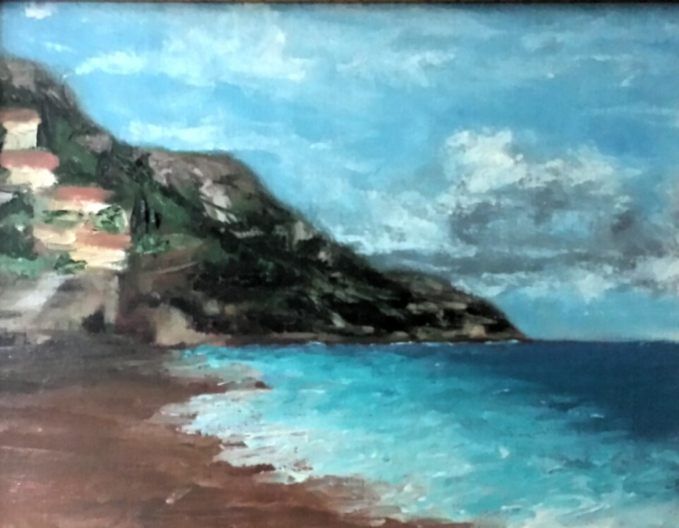 """POSITANO ITALY"" original fine art by Tracy Wilkerson"