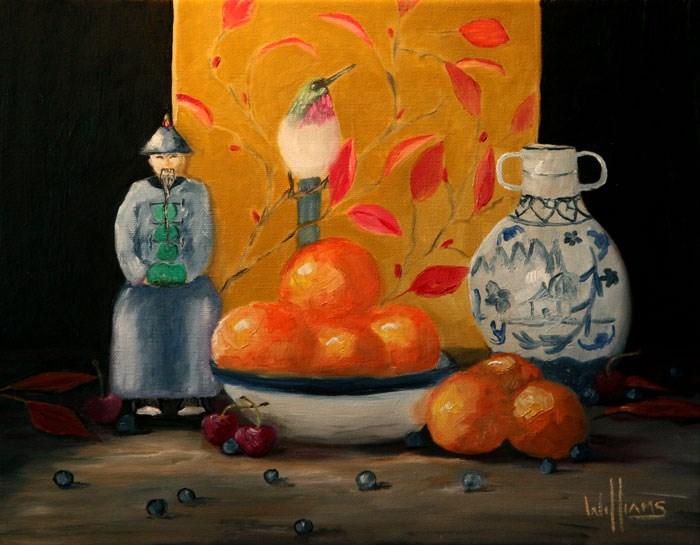 """Chinese Mandarines"" original fine art by Sunny Williams"