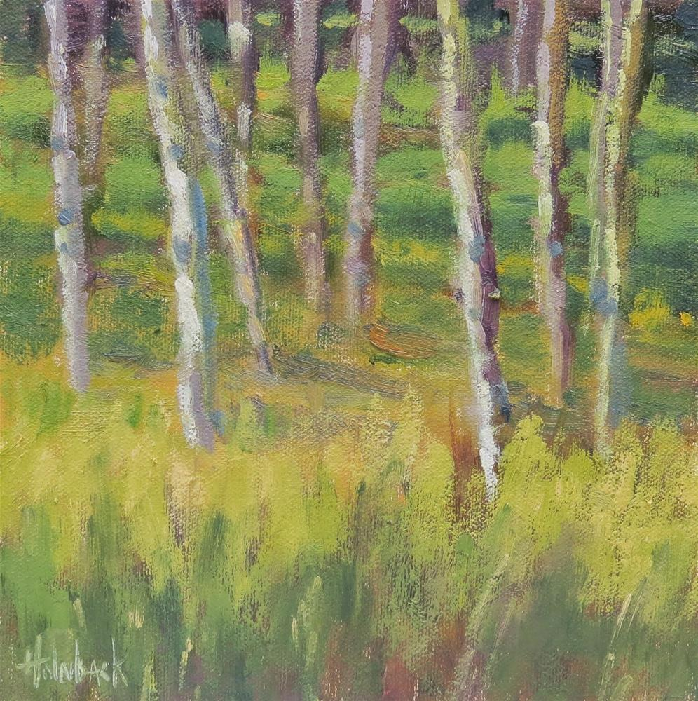 """Valley Of Aspen"" original fine art by Pam Holnback"