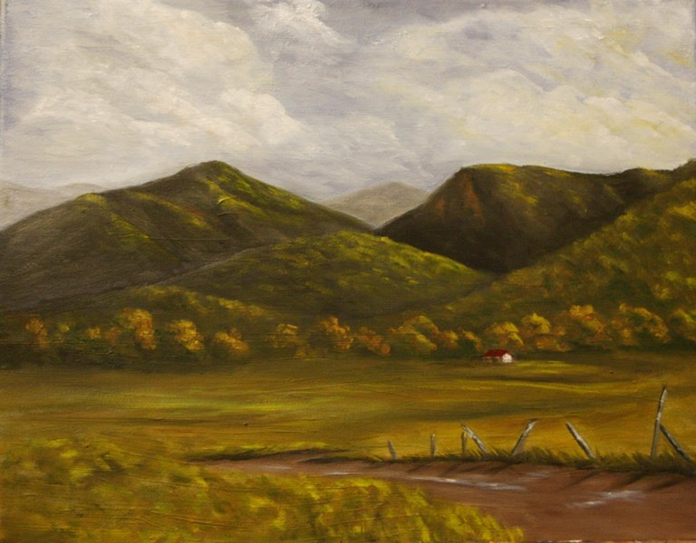 """""""Country Road"""" original fine art by Mary Datum"""