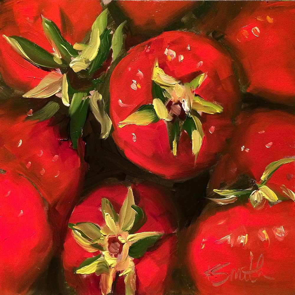 """""""Strawberries"""" original fine art by Kim Smith"""