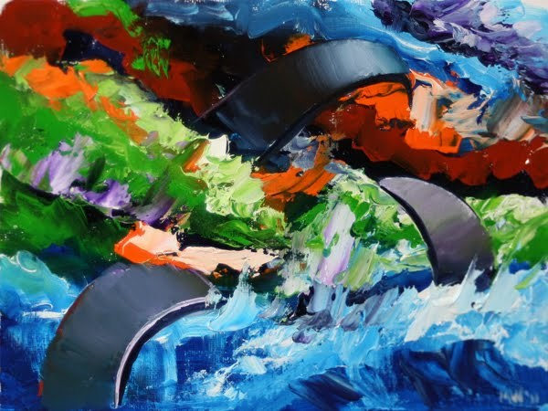 """Mark Webster - Abstraction 12 - Abstract Landscape Oil Painting"" original fine art by Mark Webster"