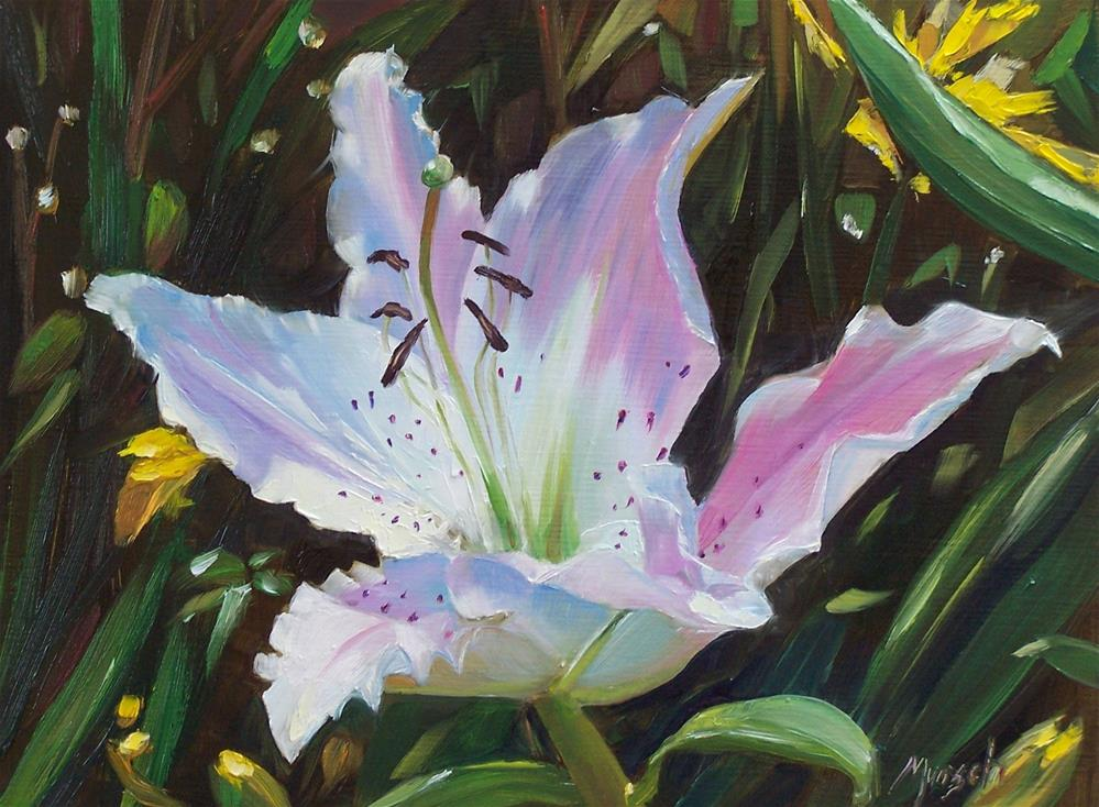 """Small White Lily"" original fine art by Donna Munsch"