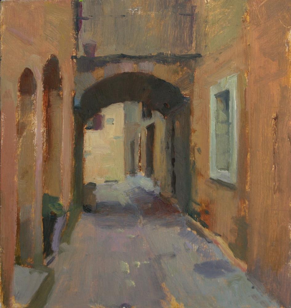 """Castillion Village"" original fine art by Julie Snyder"