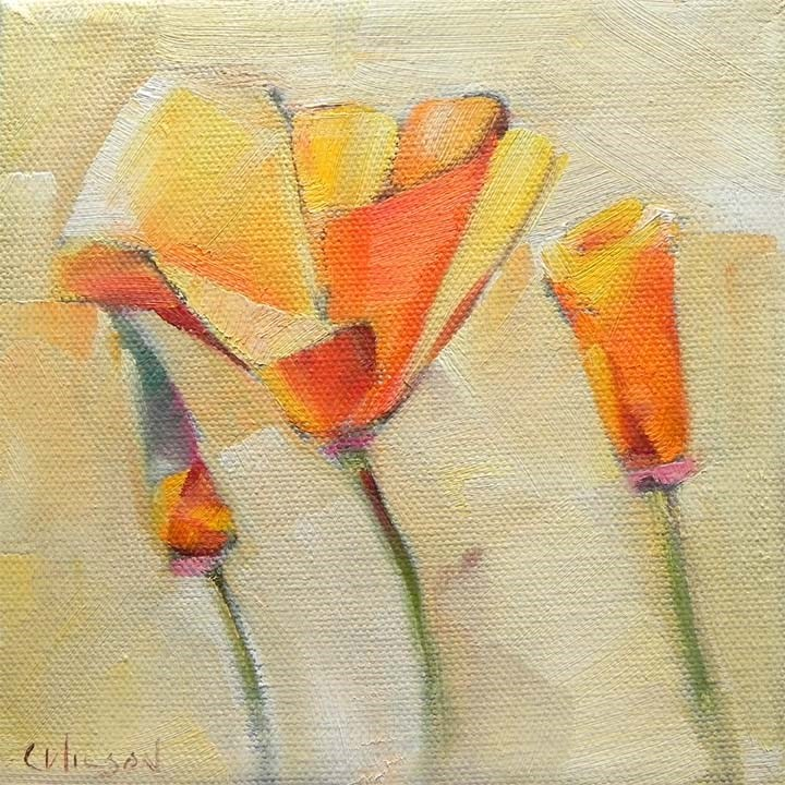 """Library Poppies"" original fine art by Cheryl Wilson"