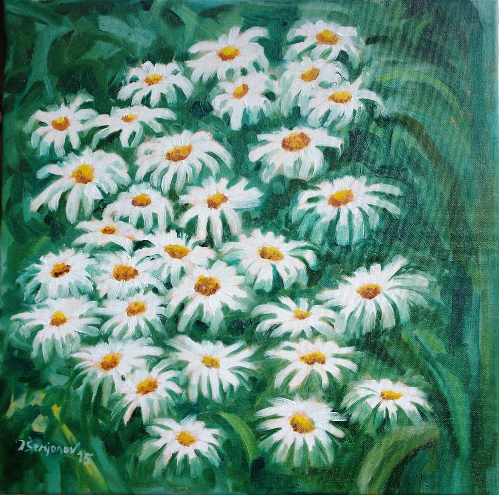 """summer chamomile"" original fine art by Juri Semjonov"