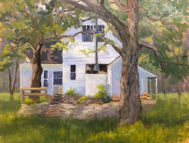 """The Cottage at Parley Lake "" original fine art by Judith Anderson"