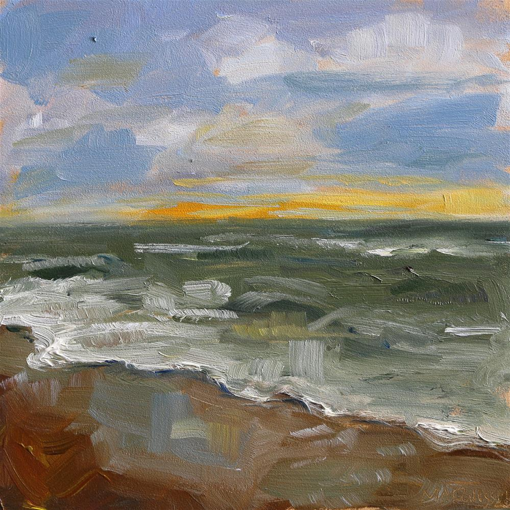 """the North sea from Scheveningen"" original fine art by Miranda Dalessi"