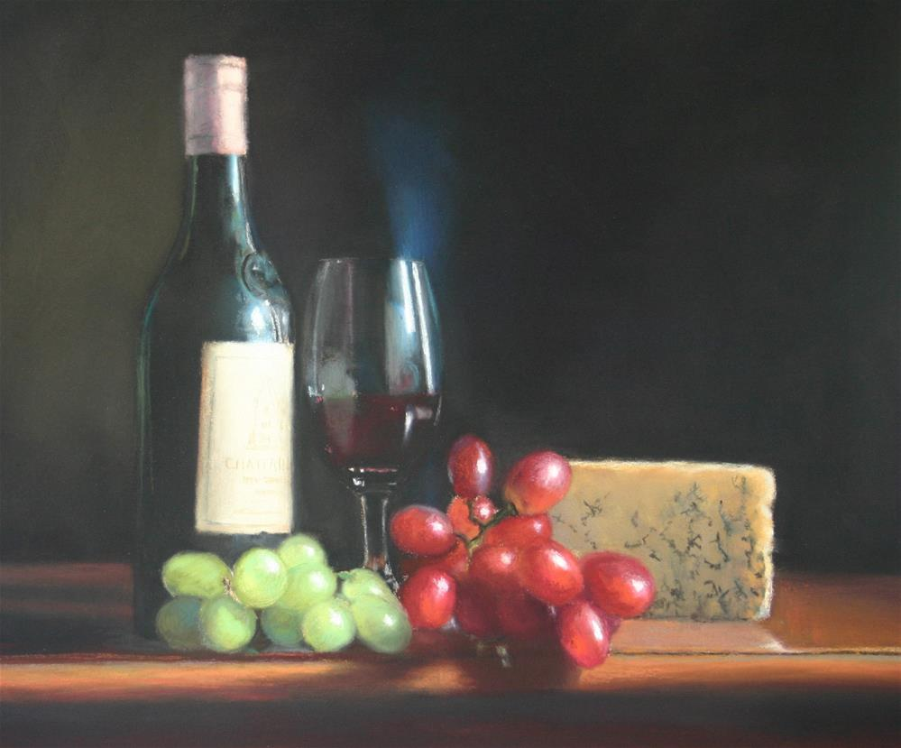 """Cheese and Wine"" original fine art by Liz Balkwill"