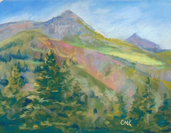 """Rocky Mountain Highways"" original fine art by Catherine Kauffman"