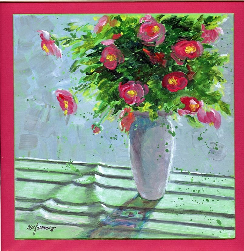 """ORIGINAL PAINTING STILL LIFE CONTEMPORARY FLORAL"" original fine art by Sue Furrow"