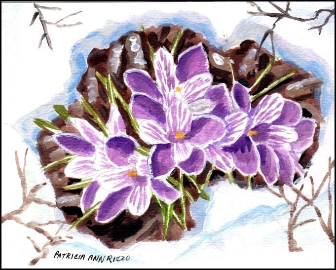 """Crocus - Harbingers of Spring"" original fine art by Patricia Ann Rizzo"