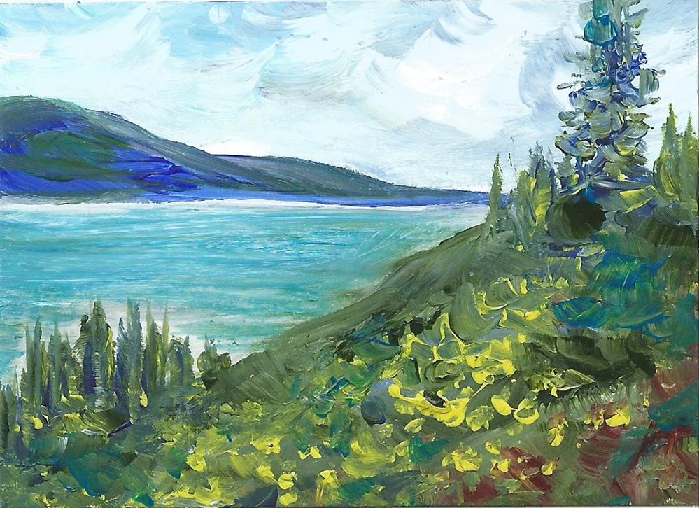 """6092 - Framed - OKANAGAN LOOKOUT ACEO"" original fine art by Sea Dean"
