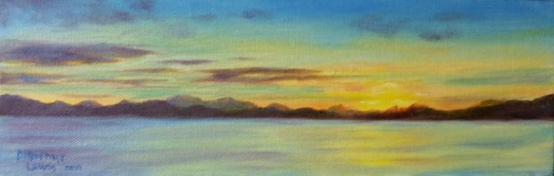 """Alaska Sunrise"" original fine art by Christine Lewis"