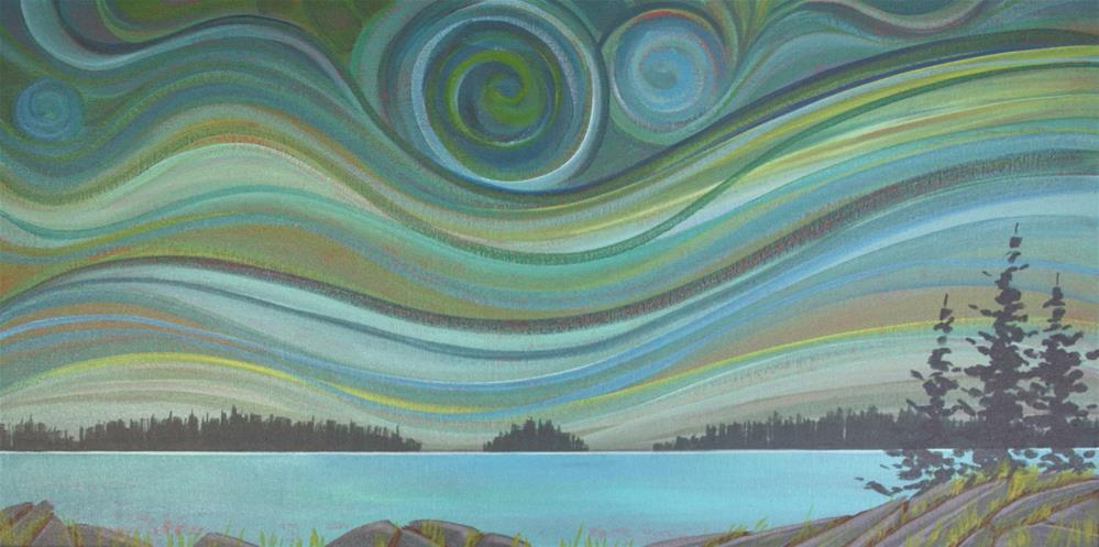 """Colour of the Wind:  Island"" original fine art by Sage Mountain"