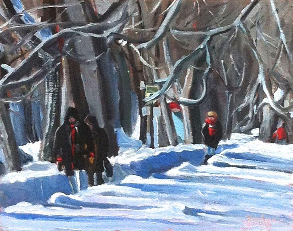 """581 Parc LaFontaine, Montreal"" original fine art by Darlene Young"