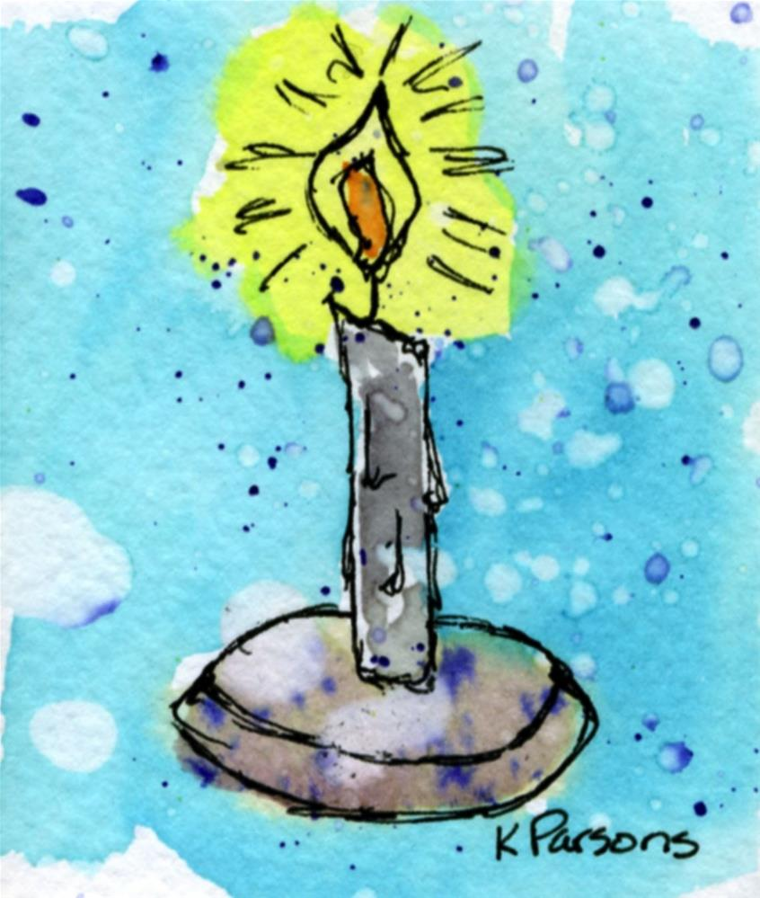 """Candle Light"" original fine art by Kali Parsons"