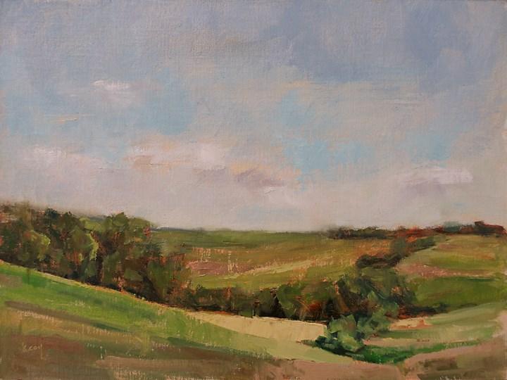 """Summer Sky"" original fine art by Kathleen Coy"