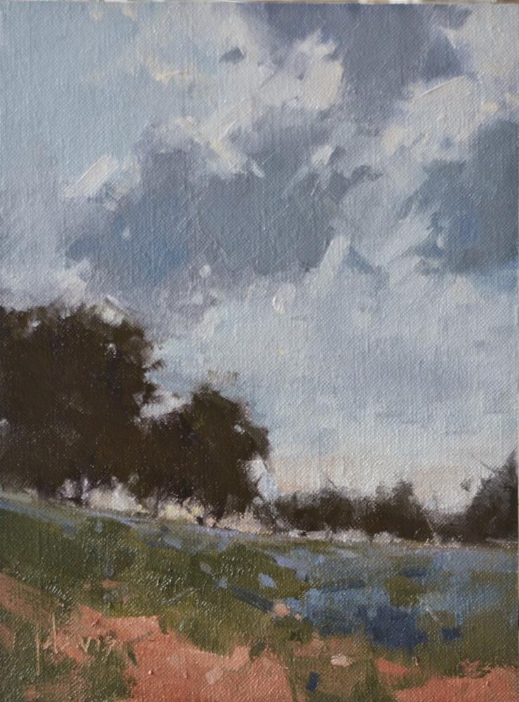 """""""Cool Hilltop"""" original fine art by Julie Davis"""