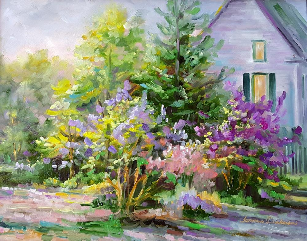 """Riot of Lilacs"" original fine art by Tammie Dickerson"