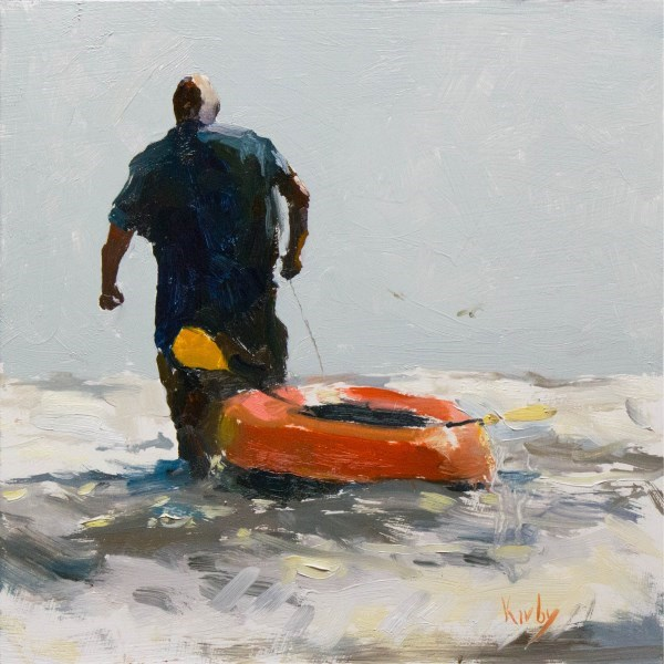 """Man and Sea"" original fine art by Randall Cogburn"