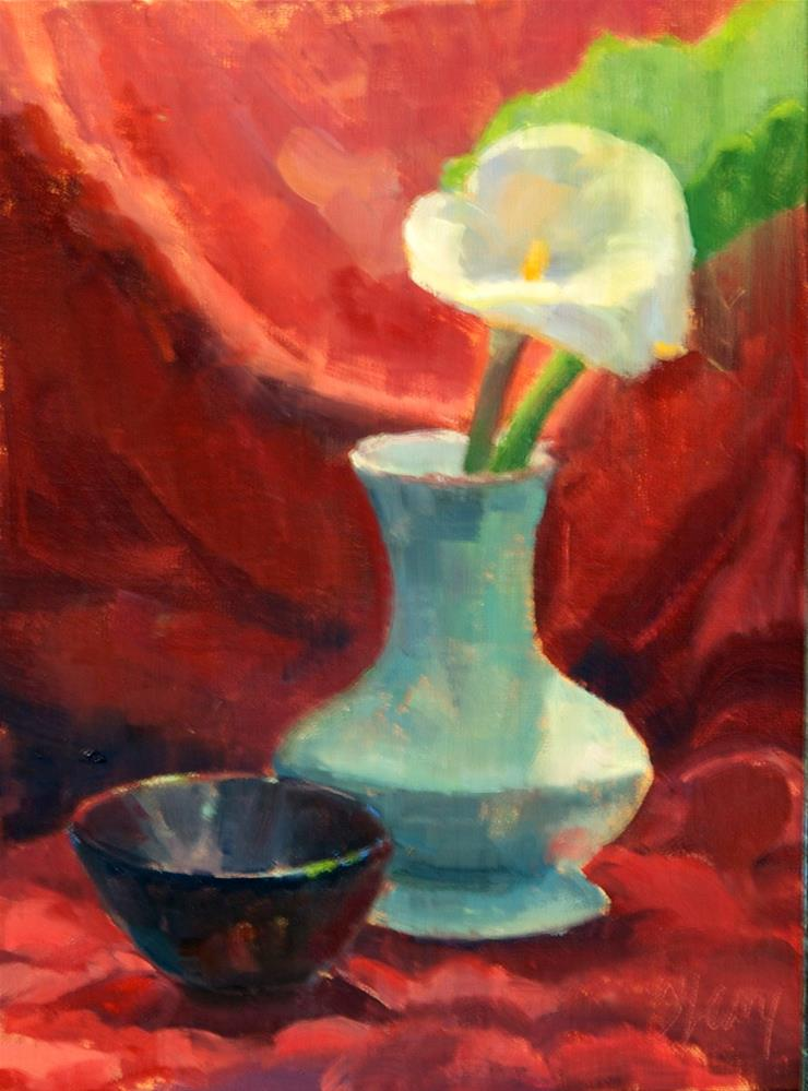 """Still Life With Black Bowl"" original fine art by Kathy O'Leary"