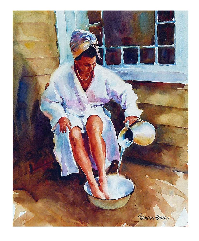 """Bathing."" original fine art by Graham Berry"