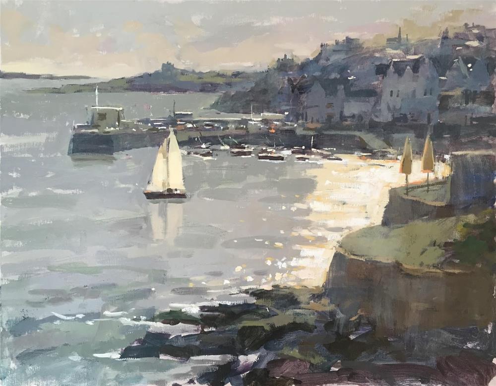 """Evening sailing"" original fine art by Haidee-Jo Summers ROI"
