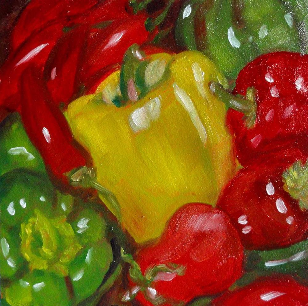"""Peck Of Peppers"" original fine art by Cietha Wilson"