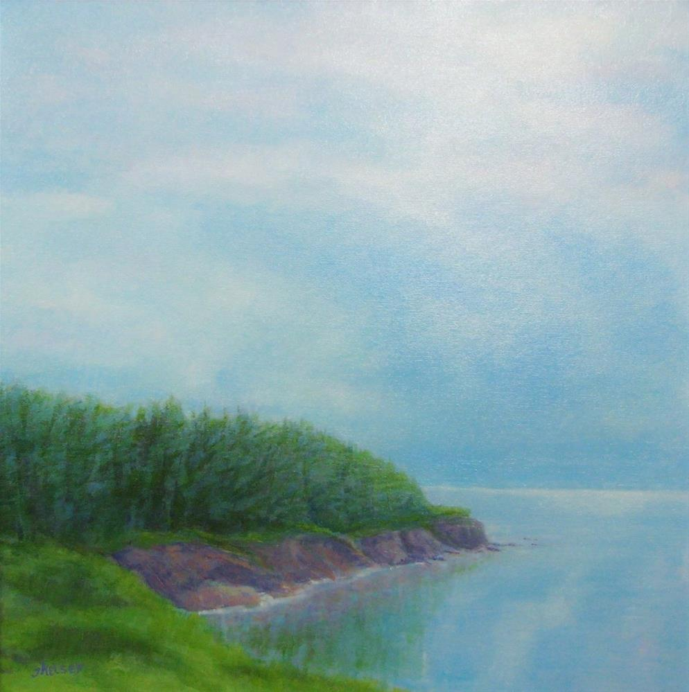 """Coastal Pines"" original fine art by J Kelsey"