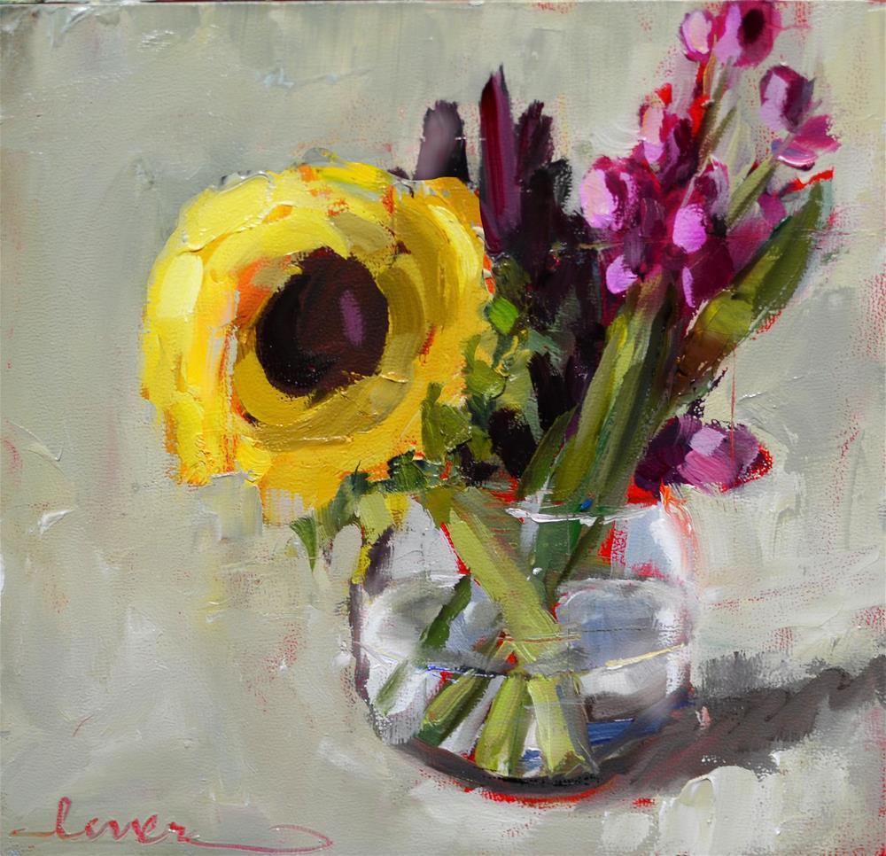 """Sunflower and Friends"" original fine art by Martha Lever"