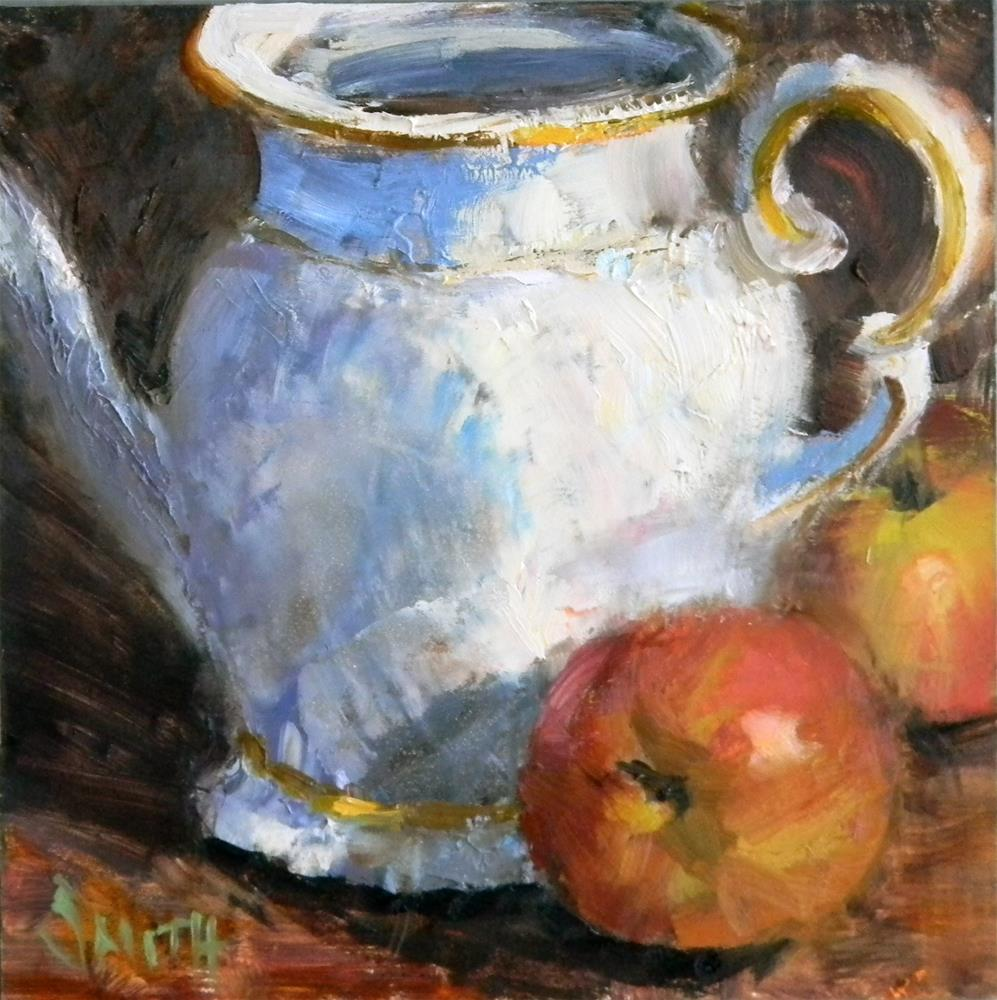 """Still Life with Apples"" original fine art by Barbie Smith"