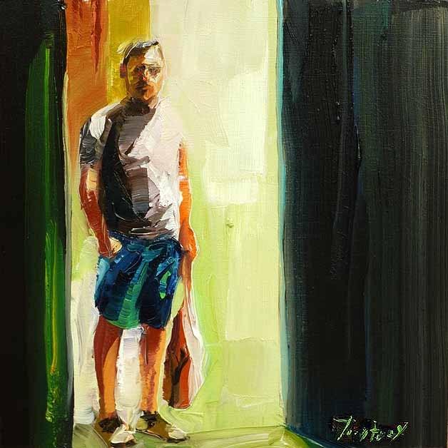 """""""Ein Fremder"""" original fine art by Jurij Frey"""