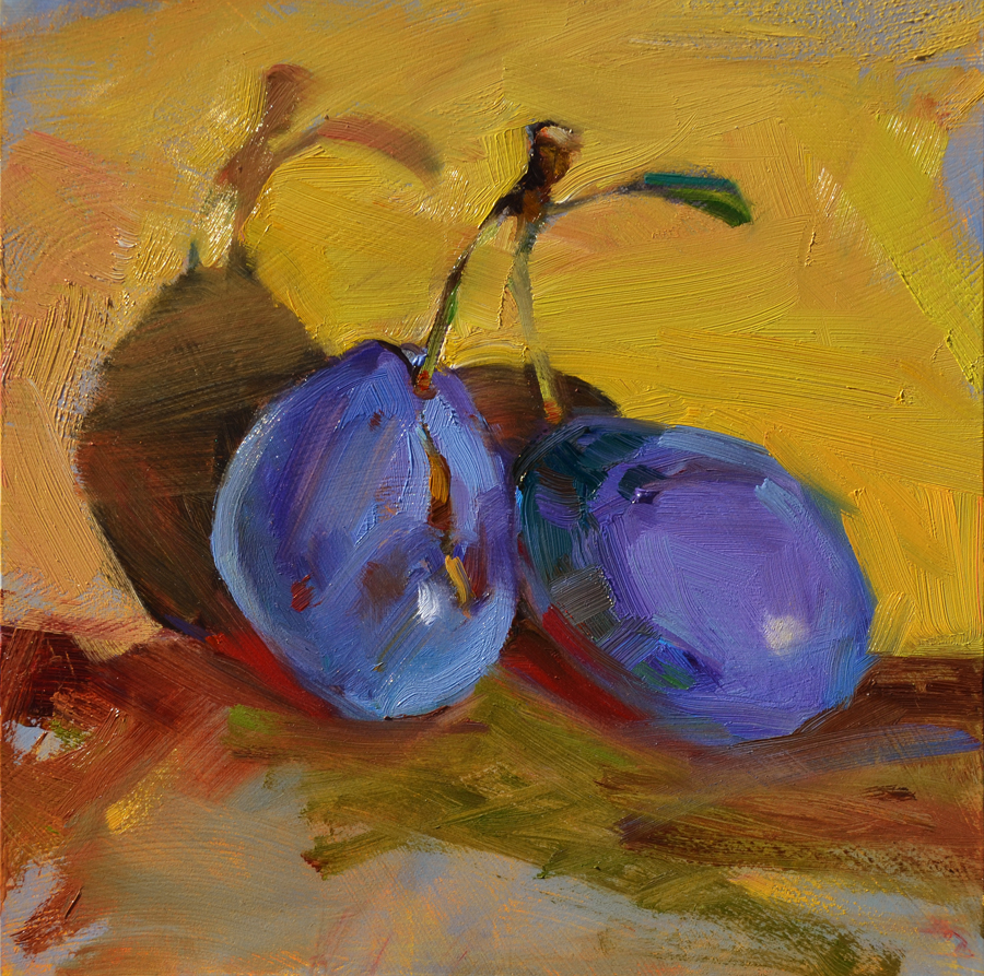 """Gloria's Plums"" original fine art by Jennifer Evenhus"