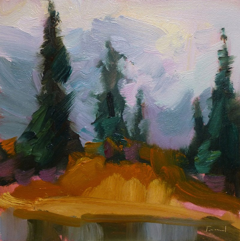 """Autumn Mist Artist Point"" original fine art by Kathryn Townsend"