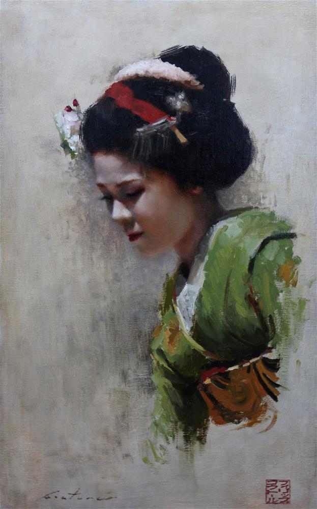 """Maiko Satohana"" original fine art by Phil Couture"