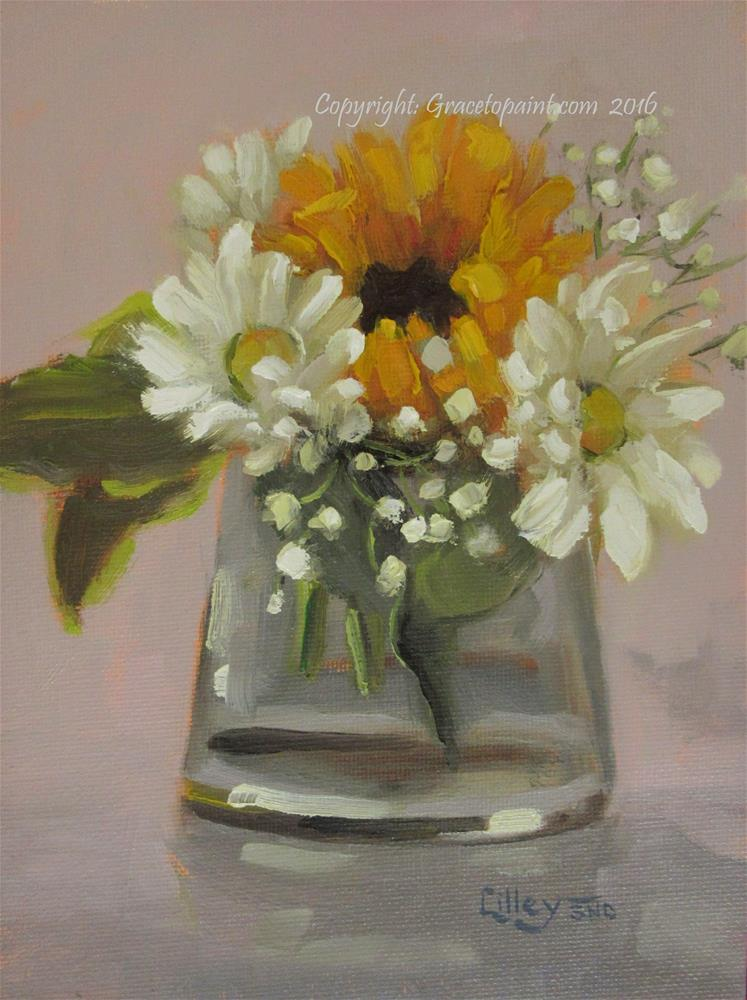 """Sunflower Frills"" original fine art by Maresa Lilley"