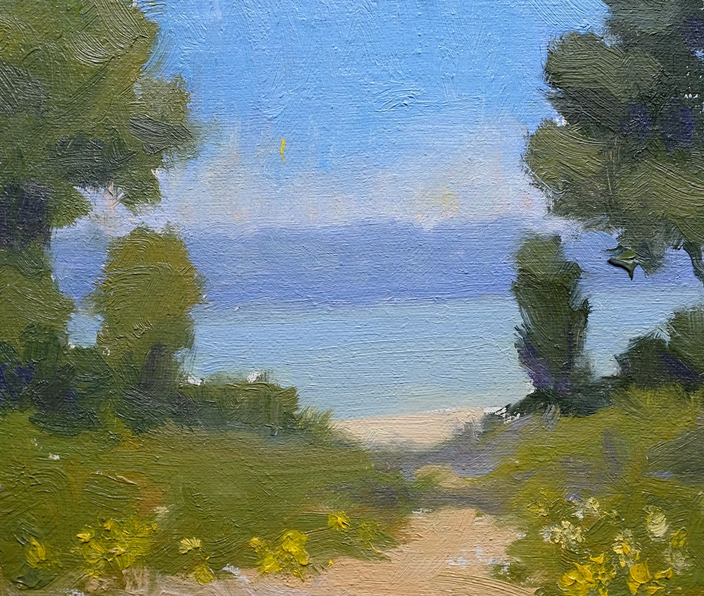 """Path to Blue II"" original fine art by Todd Zuithof"
