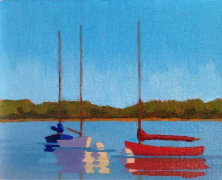 """Red White And Blue"" original fine art by Bobbi Heath"