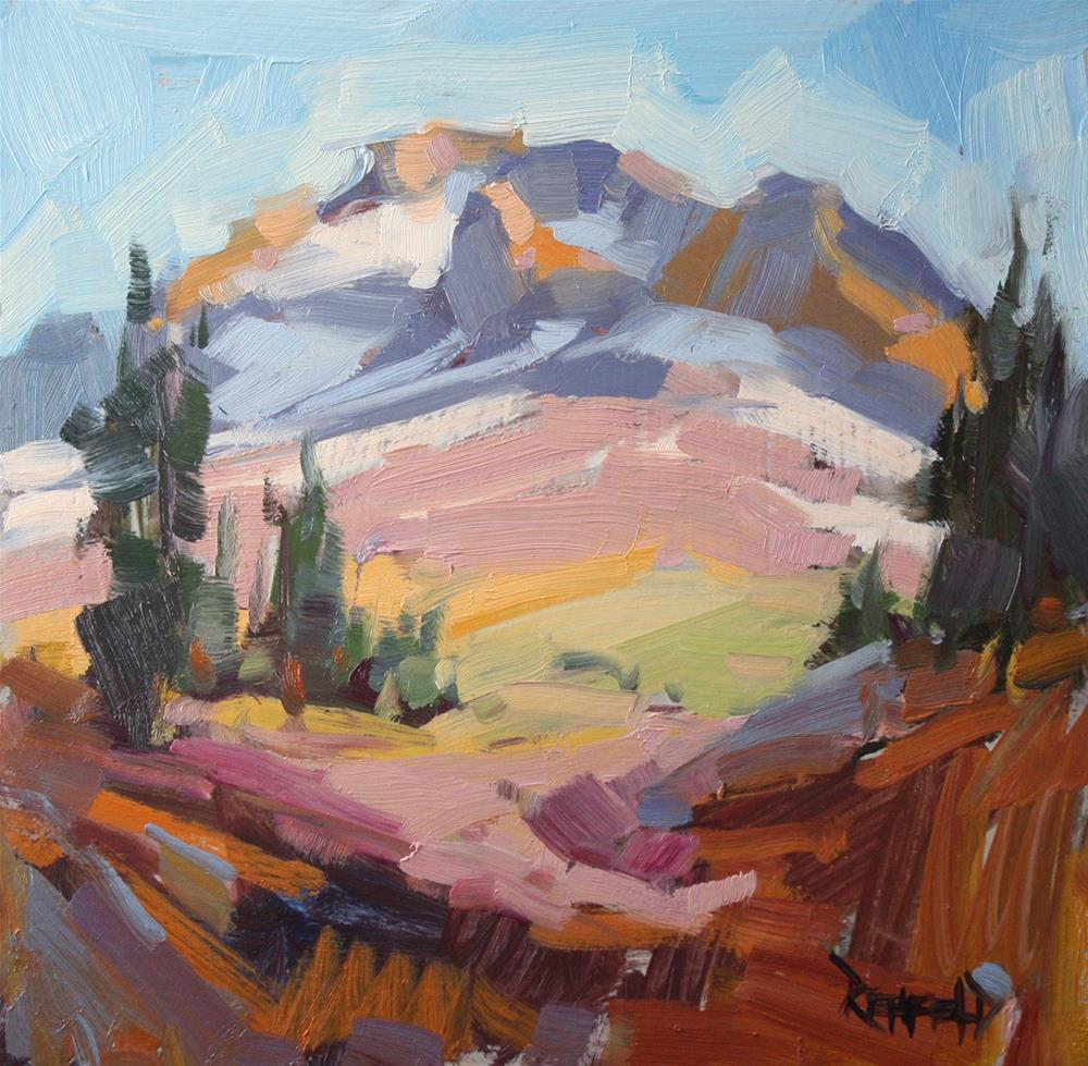 """Crater Rock on Mt Hood"" original fine art by Cathleen Rehfeld"