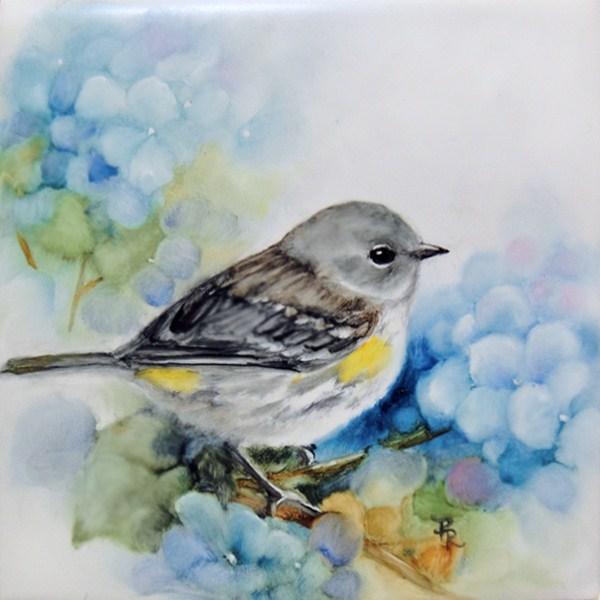 """Warbling Hydrangeas"" original fine art by Paulie Rollins"