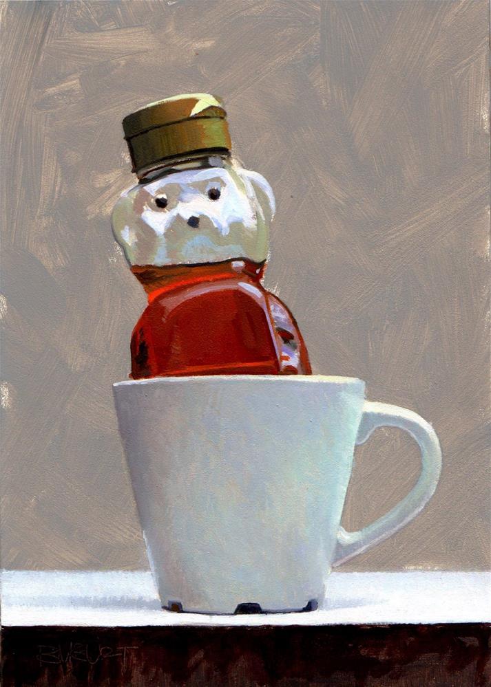 """#323 Honey Bear Hot Tub"" original fine art by Brian Burt"