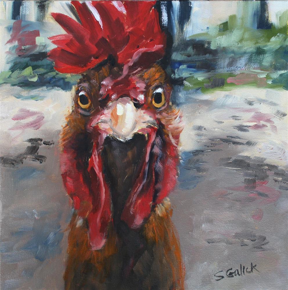 """Curious George"" original fine art by Susan Galick"