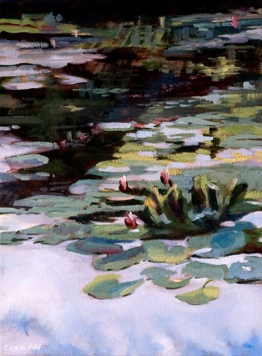 """Reflections On The Pond - Giverny"" original fine art by Carolynn Doan"