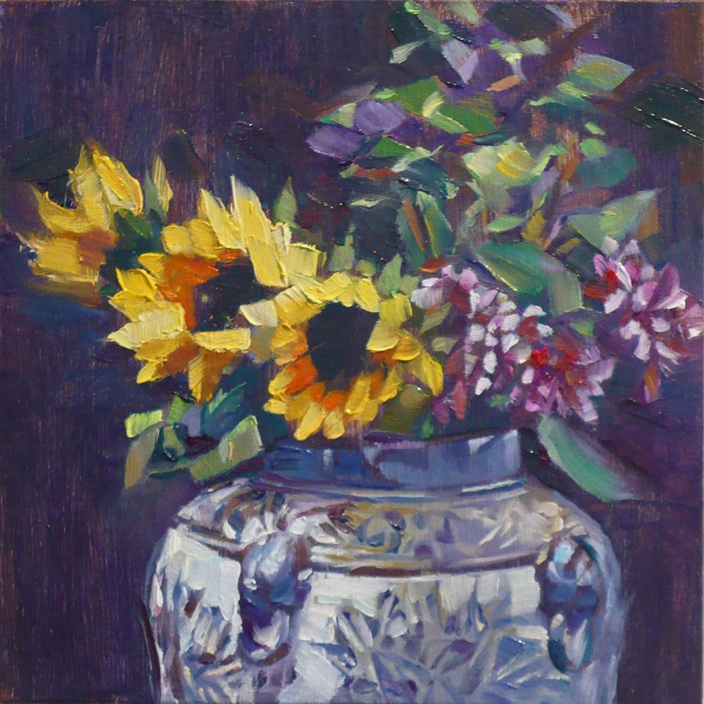 """""""Phoenix Sunflower"""" original fine art by Nicoletta Baumeister"""