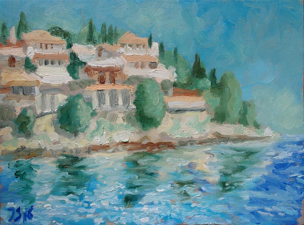 """Kassiopi, Corfu"" original fine art by Juri Semjonov"