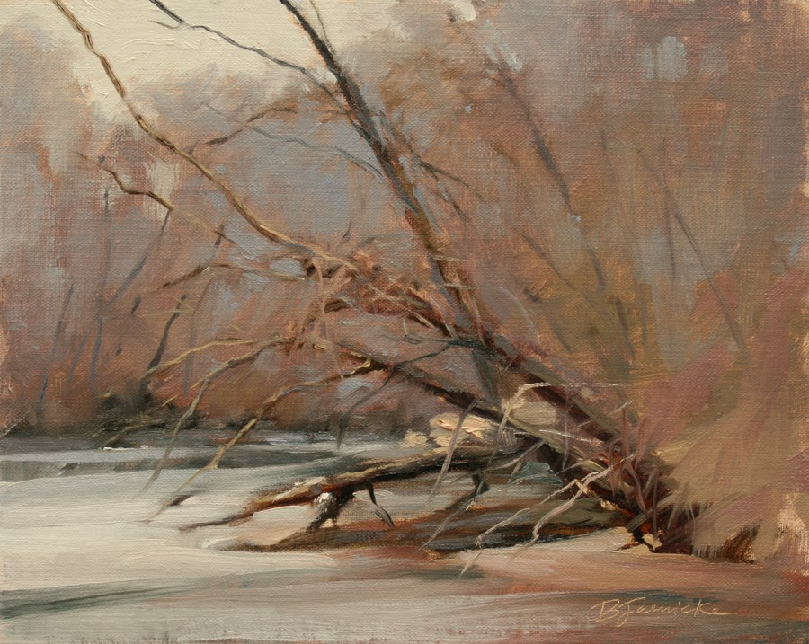 """March Morning"" original fine art by Barbara Jaenicke"