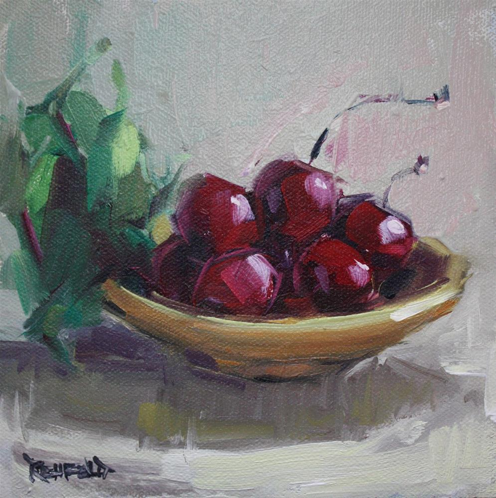 """It Is Cherry Season"" original fine art by Cathleen Rehfeld"
