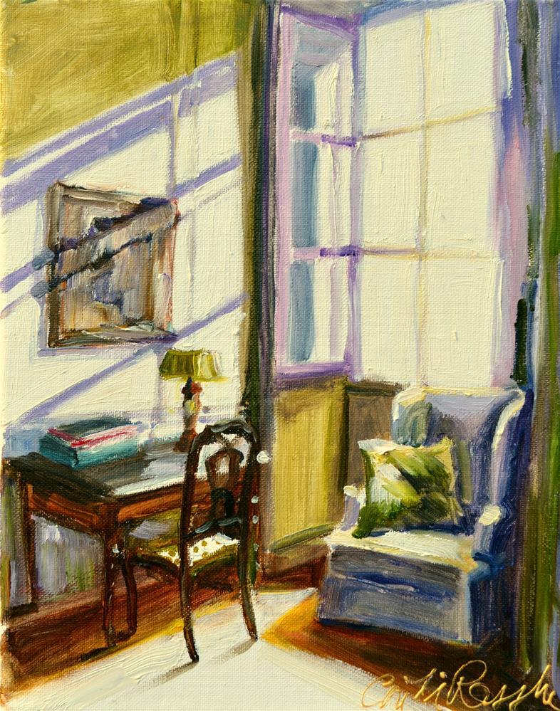"""SUNLIT WINDOW"" original fine art by Cecilia Rosslee"