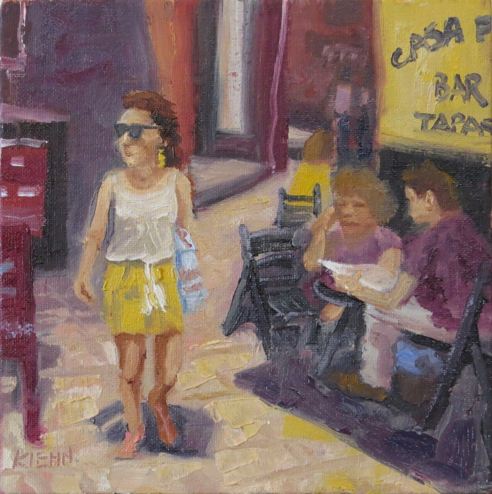 """Sevilla Sidestreet"" original fine art by Richard Kiehn"